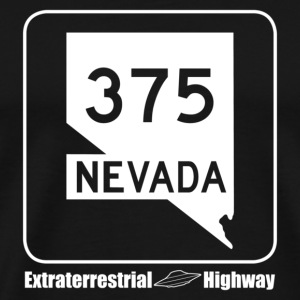 375 NEVADA Extraterrestrial Highway UFO - Men's Premium T-Shirt