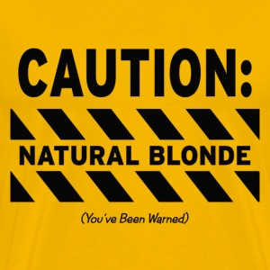 CAUTION: Natural Blonde T-Shirts - Men's Premium T-Shirt