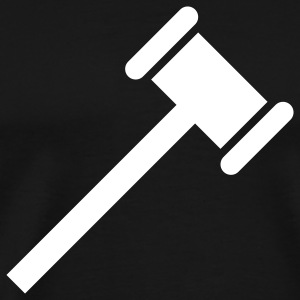 judge hammer T-Shirts - Men's Premium T-Shirt