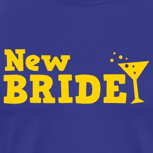 new bride with cocktail glass bubbly party T-Shirts - Men's Premium T-Shirt