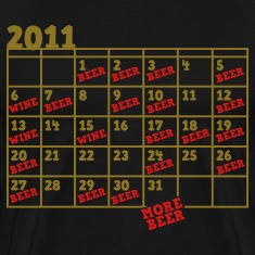 2011 BEER CALENDAR month new years T-Shirts