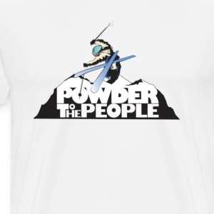Powder to the People t shirt - Men's Premium T-Shirt