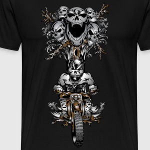 Skull Tree Dirt Biker - Men's Premium T-Shirt