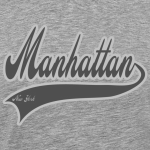 manhattan new york grey T-Shirts - Men's Premium T-Shirt