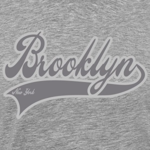 brooklyn new york grey T-Shirts - Men's Premium T-Shirt