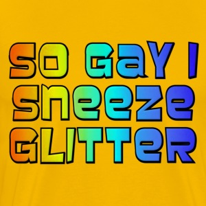 So Gay I Sneeze Glitter -- Archer T-Shirts - Men's Premium T-Shirt
