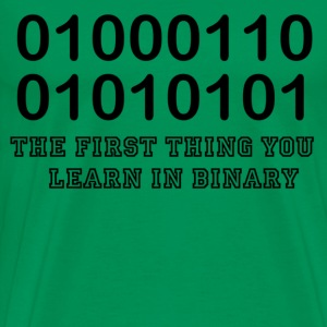 F.U. in binary - Men's Premium T-Shirt