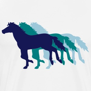 Three Horses - Men's Premium T-Shirt