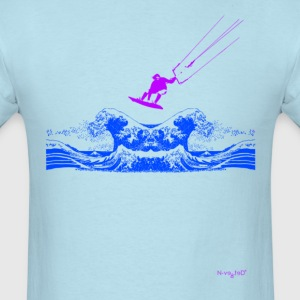 Kitesurfing Wave Sky Blu - Men's T-Shirt
