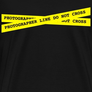 Photographer Line Do Not Cross - Men's Premium T-Shirt