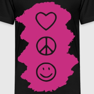 love_peace_happy Toddler Shirts - Toddler Premium T-Shirt