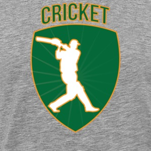 Cricket Badge - Men's Premium T-Shirt