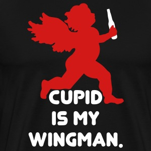Cupid Is My Wingman T-Shirts - Men's Premium T-Shirt