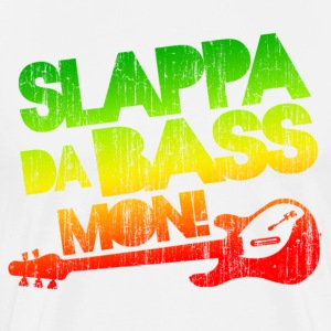 Slappa Da Bass Mon! Distressed - Men's Premium T-Shirt