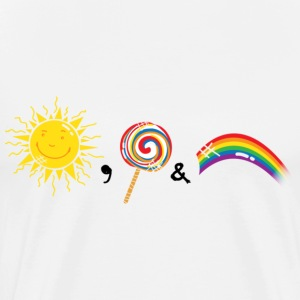 Sunshine, Lollipops & Rainbows - Men's Premium T-Shirt