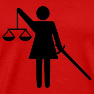 justice - scale - lawyer T-Shirts - Men's Premium T-Shirt