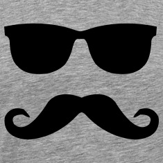 mustache and glasses T-Shirts