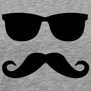 mustache and glasses T-Shirts - Men's Premium T-Shirt