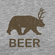 Beer Bear Deer Vintage T-Shirt
