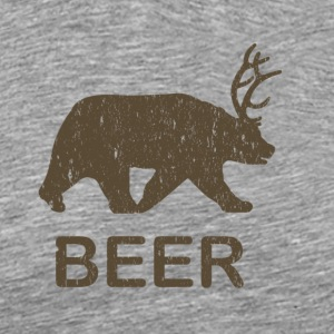 Beer Bear Deer Vintage T-Shirt - Men's Premium T-Shirt
