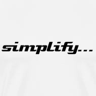Design ~ Simplify / Add Lightness : Heavyweight t-shirt- Natural w/ Black
