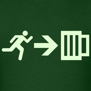 Run For Beer - Emergency Exit - Men's T-Shirt