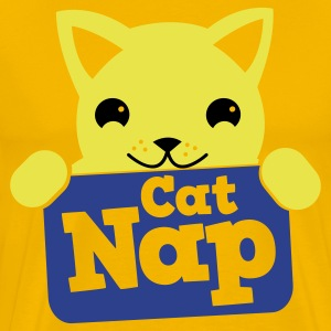 cat nap cute kitty with a sign T-Shirts - Men's Premium T-Shirt
