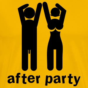 after party naked man and woman a bit rude! T-Shirts - Men's Premium T-Shirt