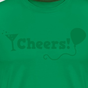 cheers with cocktail glass T-Shirts - Men's Premium T-Shirt