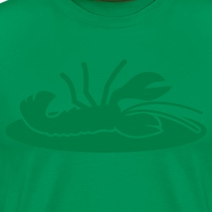 lobster crayfish on a plate T-Shirts - Men's Premium T-Shirt