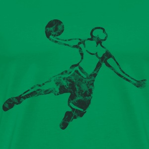 Basketball Dunk Used Look Retro T-Shirts - Men's Premium T-Shirt