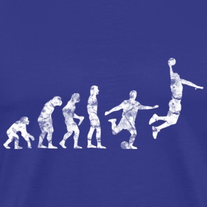 Basketball Evolution Soccer Dunk Used Look Retro T - Men's Premium T-Shirt
