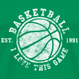 Basketball I love this game 1891 Vintage Look Retr - Men's Premium T-Shirt