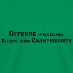 Basketball Slogan Offense vs. Defense Used Look T-