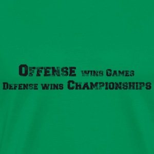 Basketball Slogan Offense vs. Defense Used Look T- - Men's Premium T-Shirt