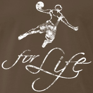 Basketball Slogan Baller For Life Used Look Retro  - Men's Premium T-Shirt