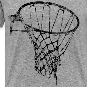 Basketball Net Used Look Retro T-Shirts - Men's Premium T-Shirt