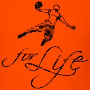 Basketball Slogan Baller For Life Used Look Retro  - Men's T-Shirt