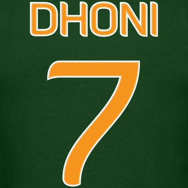 Dhoni #7 shirt / jersey (in honor of 2011 World Cup Champion Indian Cricket Team Captain )