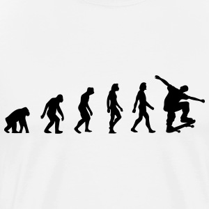 Skateboard Evolution (1c) T-Shirts - Men's Premium T-Shirt