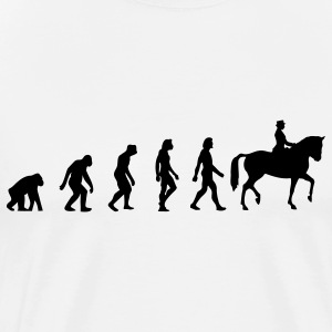 Horse Riding Evolution (1c) T-Shirts - Men's Premium T-Shirt