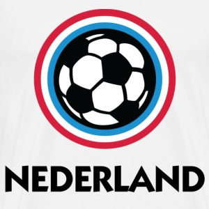 Netherlands Holland Football Soccer Circles (DD) T-Shirts - Men's Premium T-Shirt