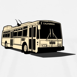 1 California Muni Bus T-shirt - Men's Premium T-Shirt
