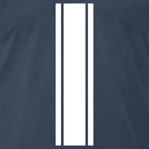 rallye stripes - rally stripes - racing stripes T-Shirts - Men's Premium T-Shirt