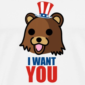 Uncle Pedobear - Wants YOU !  - Men's Premium T-Shirt