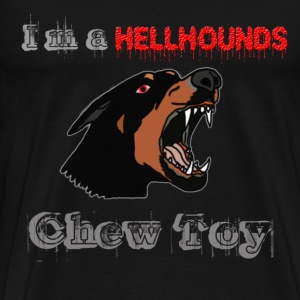 I'm a HellHounds Chew Toy Grey Red - Men's Premium T-Shirt