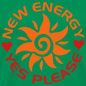 NEW ENERGY sun | men's heavyweight shirt - Men's Premium T-Shirt