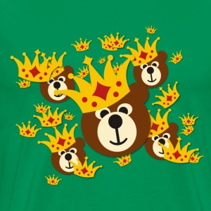 SMILING BEAR with crown | men's 3XL shirt - Men's Premium T-Shirt