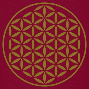 FLOWER OF LIFE - vector stamp | men's heavyweight  - Men's T-Shirt