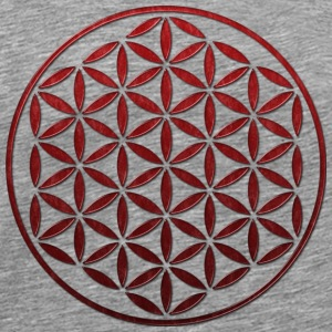 FLOWER OF LIFE - red glass stamp | men's 3XL shirt - Men's Premium T-Shirt